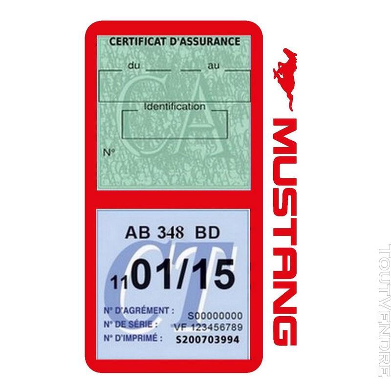 Porte vignette assurance voiture FORD MUSTANG Americaine US 650898514