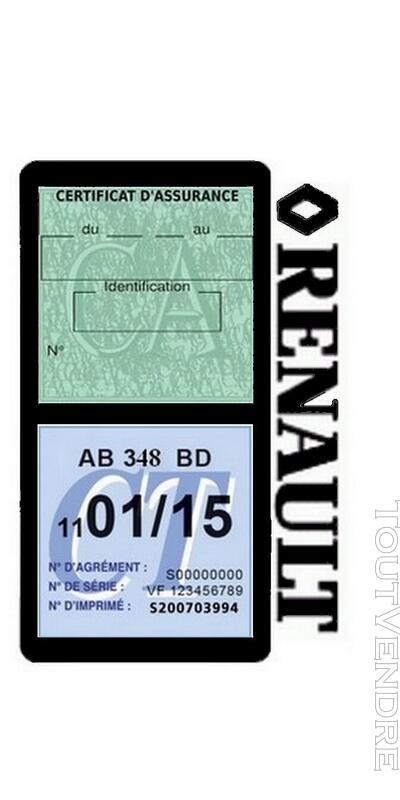 Porte vignette assurance voiture RENAULT double pochette 650691475