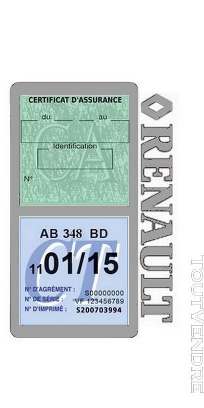 Porte vignette assurance voiture RENAULT double pochette 650691481
