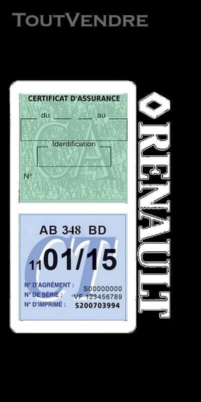 Porte vignette assurance voiture RENAULT double pochette 650691487