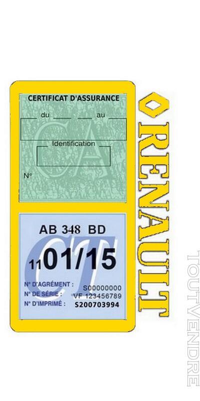 Porte vignette assurance voiture RENAULT double pochette 650691490