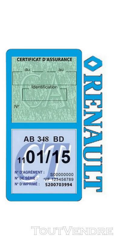 Porte vignette assurance voiture RENAULT double pochette 650691496