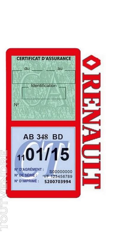 Porte vignette assurance voiture RENAULT double pochette 650691502