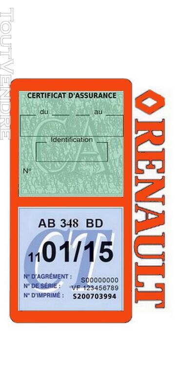 Porte vignette assurance voiture RENAULT double pochette 650691508