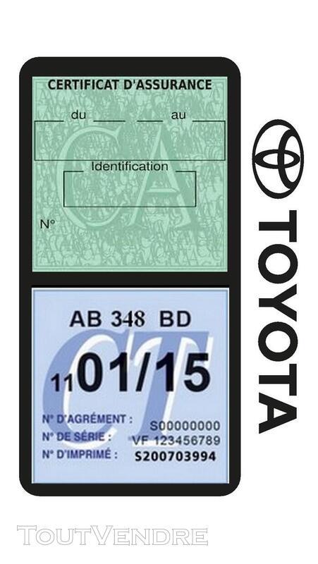 Porte vignette assurance voiture TOYOTA double pochette 650691397