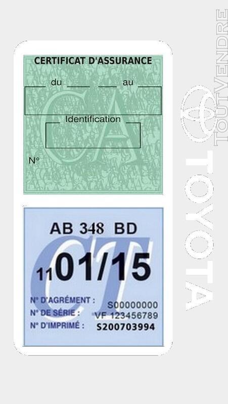 Porte vignette assurance voiture TOYOTA double pochette 650691400