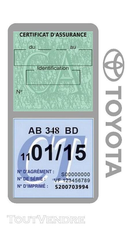 Porte vignette assurance voiture TOYOTA double pochette 650691406