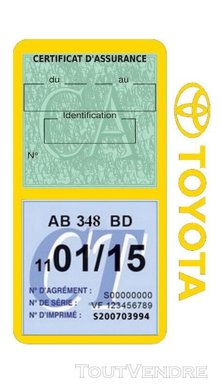 Porte vignette assurance voiture TOYOTA double pochette 650691409