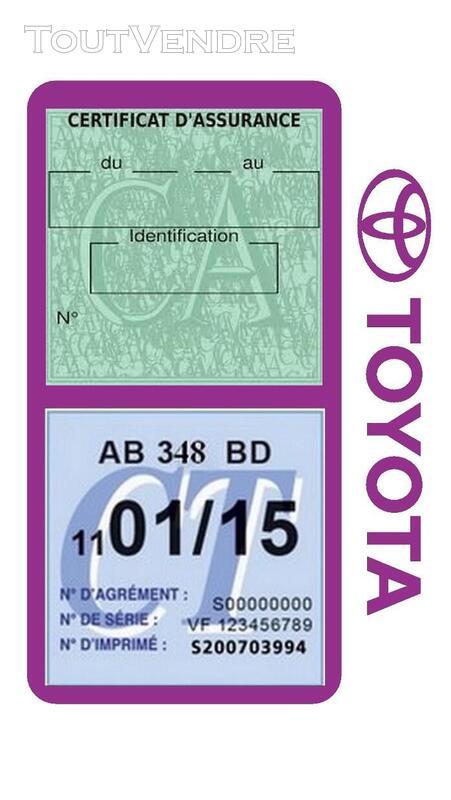Porte vignette assurance voiture TOYOTA double pochette 650691412