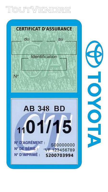 Porte vignette assurance voiture TOYOTA double pochette 650691415