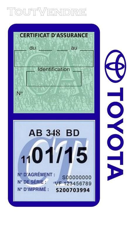 Porte vignette assurance voiture TOYOTA double pochette 650691418