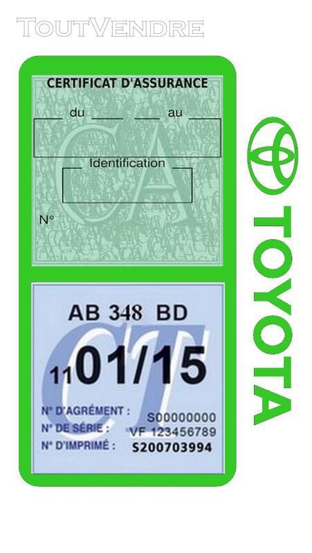 Porte vignette assurance voiture TOYOTA double pochette 650691421