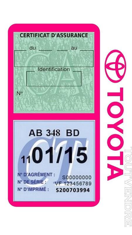Porte vignette assurance voiture TOYOTA double pochette 650691424