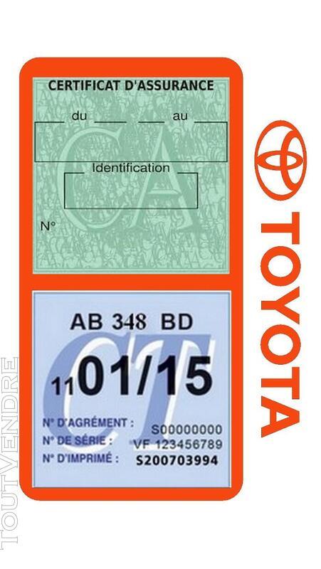 Porte vignette assurance voiture TOYOTA double pochette 650691427
