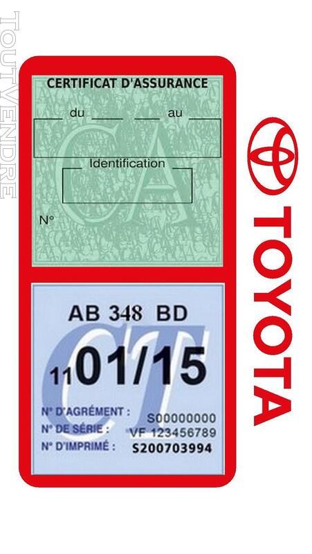 Porte vignette assurance voiture TOYOTA double pochette 650691430