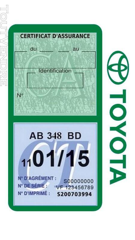 Porte vignette assurance voiture TOYOTA double pochette 650691433