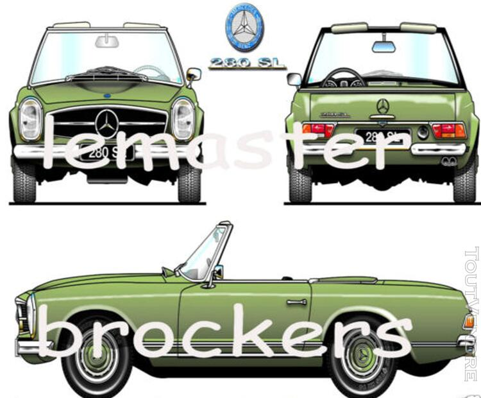 Posters affiches automobiles de voitures de collection 125428687