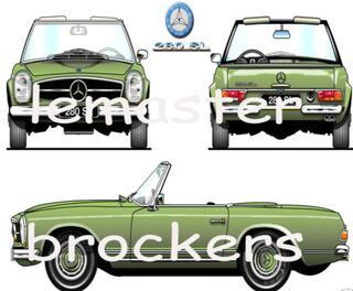 Posters affiches automobiles de voitures de collection