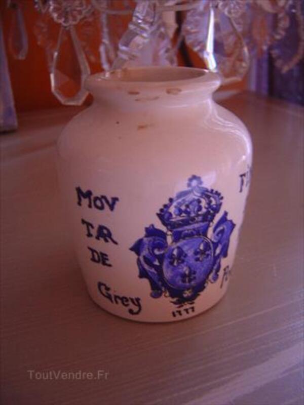 Pot à moutarde ancien sarreguemines pub dijon gres 87051139