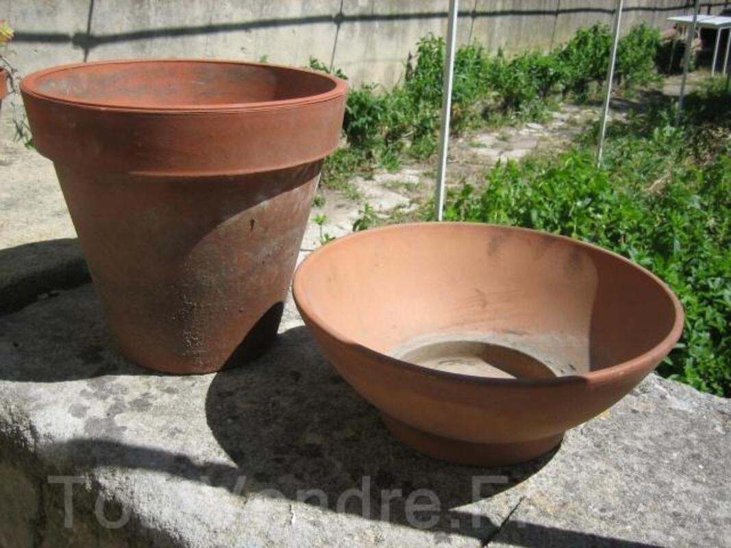 Pots terre cuite +coupelle 32825354
