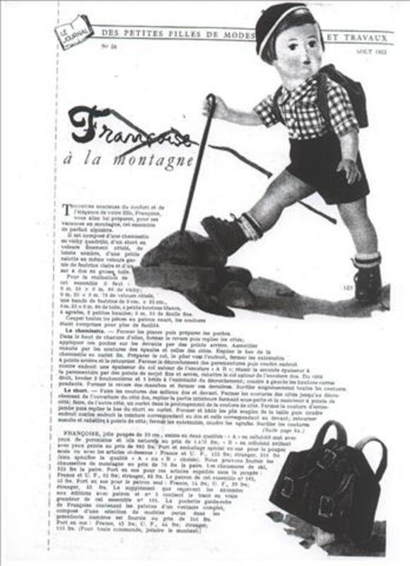 POUPEE  FRANCOISE MODES ET TRAVAUX 88206255
