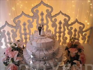 Présentoir à gateaux dragée décoration mariage