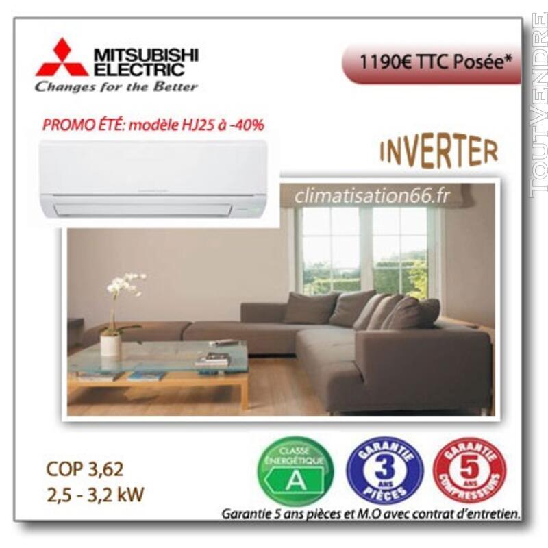 Promo climatisation monosplit Mitsubishi HJ 128777735