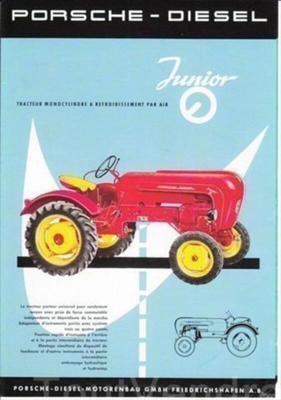 Prospectus tracteurs agricoles Porche 72951330