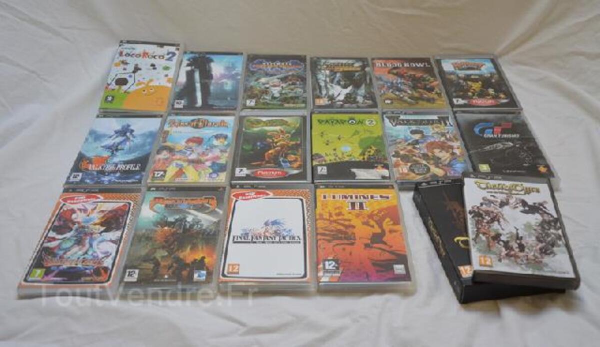 PSP 3004 + 17 jeux 92591438