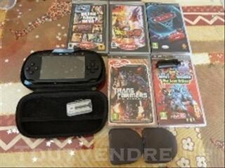 PSP street neuve + camera + jeux + carte memoire-mem
