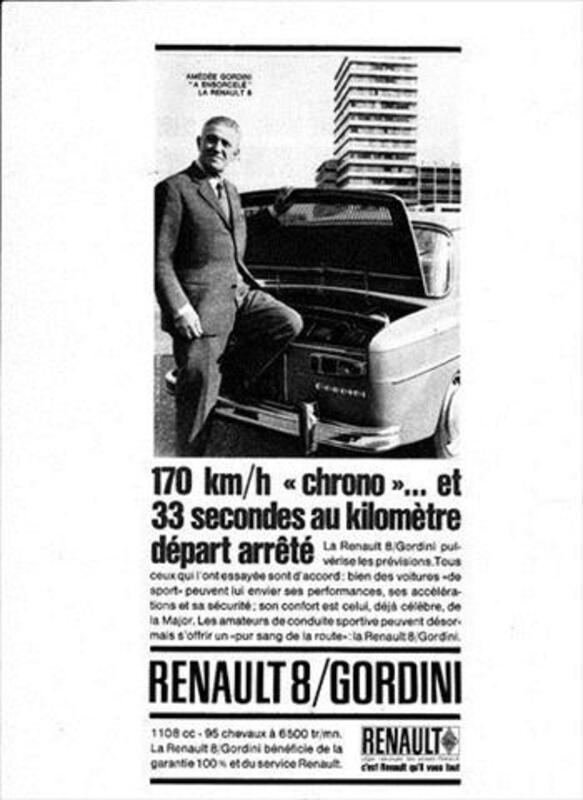 Publicité Renault 8 Gordini 56112921