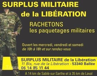 Rachat vêtements effets militaires gendarmerie armée