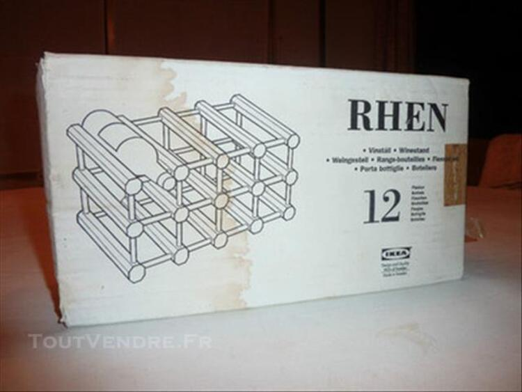 RANGE BOIS 12 BOUTEILLES  IKEA NEUF 77531080