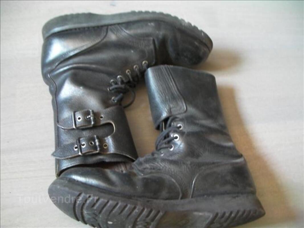 Rangers en cuire noir armée française 35520128