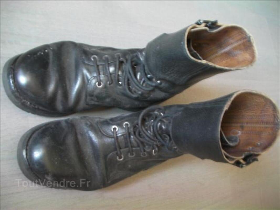 Rangers en cuire noir armée française 35520129