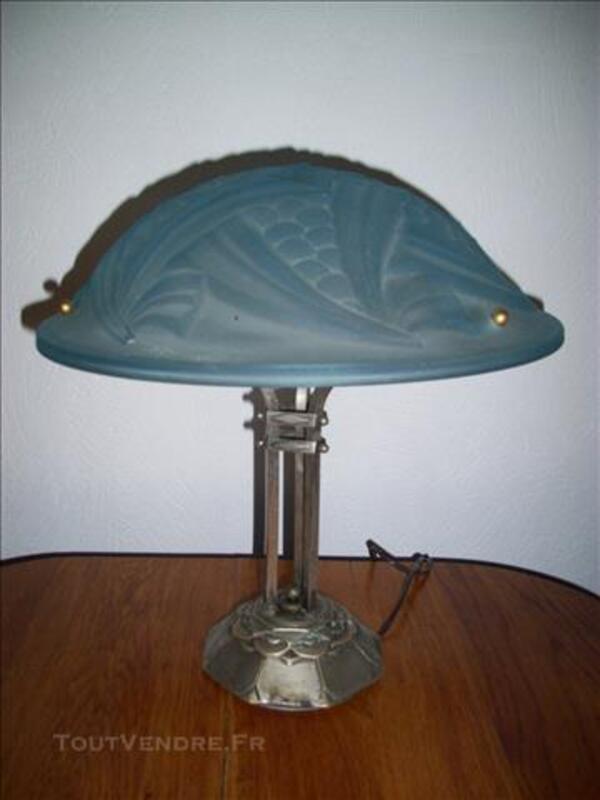 RARE LAMPE PATE DE VERRE DEGUE SERIE NEGRAS ART DECO 76859589