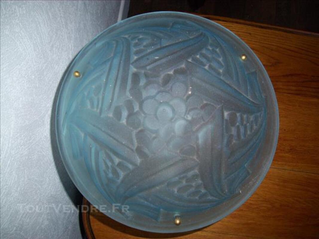 RARE LAMPE PATE DE VERRE DEGUE SERIE NEGRAS ART DECO 76859591