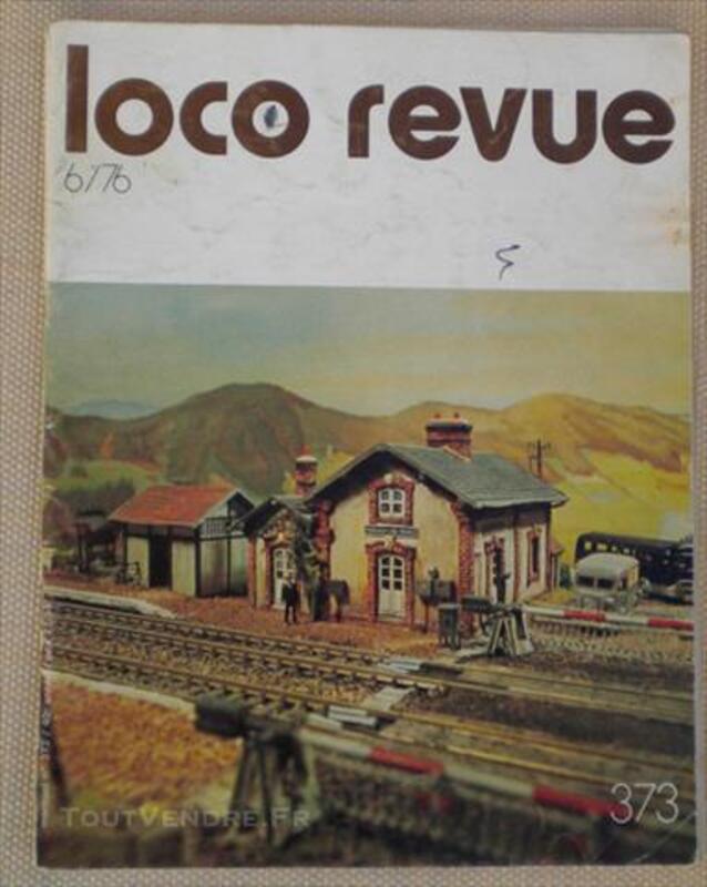 """RARE MAGASINE """"LOCO-REVUE"""" N°373 JUIN 1976 83087299"""