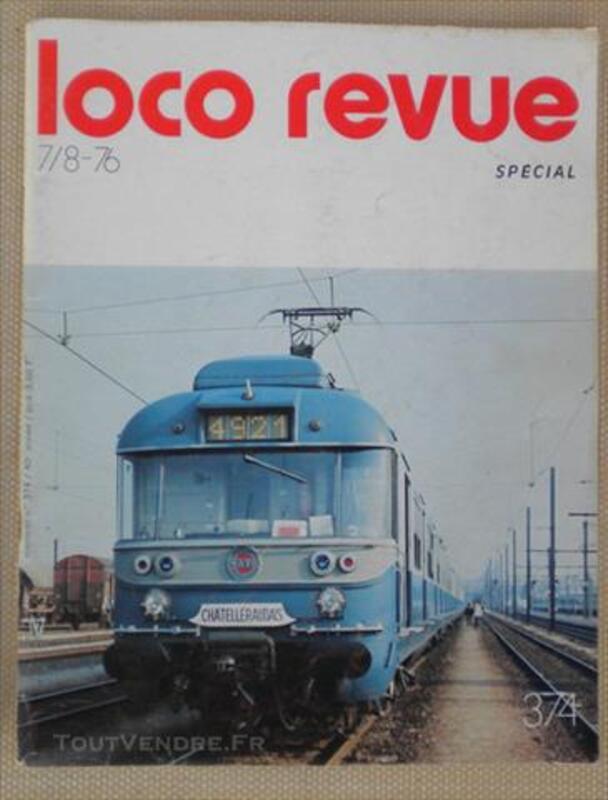"RARE MAGASINE ""LOCO-REVUE"" N°374 JUILLET/AOUT 1976 82673097"