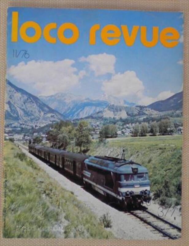"""RARE MAGASINE """"LOCO-REVUE"""" N°377 NOVEMBRE 1976 82673100"""