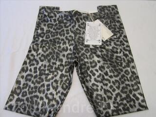 Religion Metallic Silver Leopard Print Leggings XS 8 36