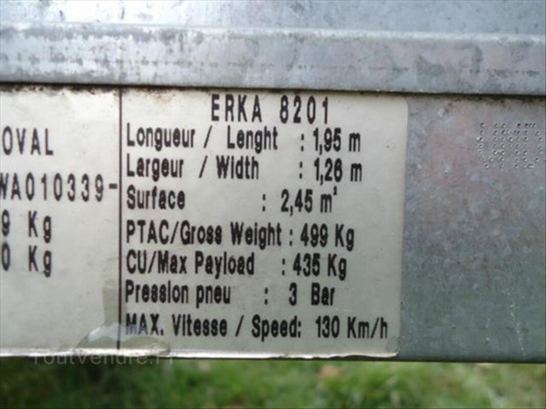 Remorque ERKA basculante 88259326