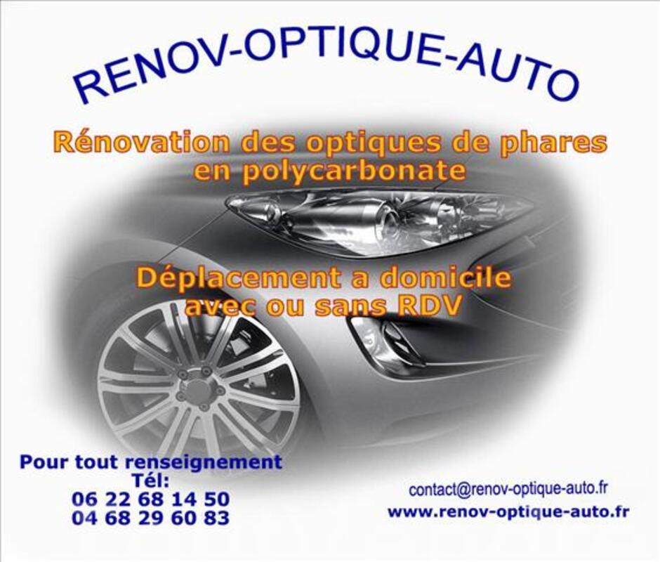 Renovation des optiques de phares automobile 32690637
