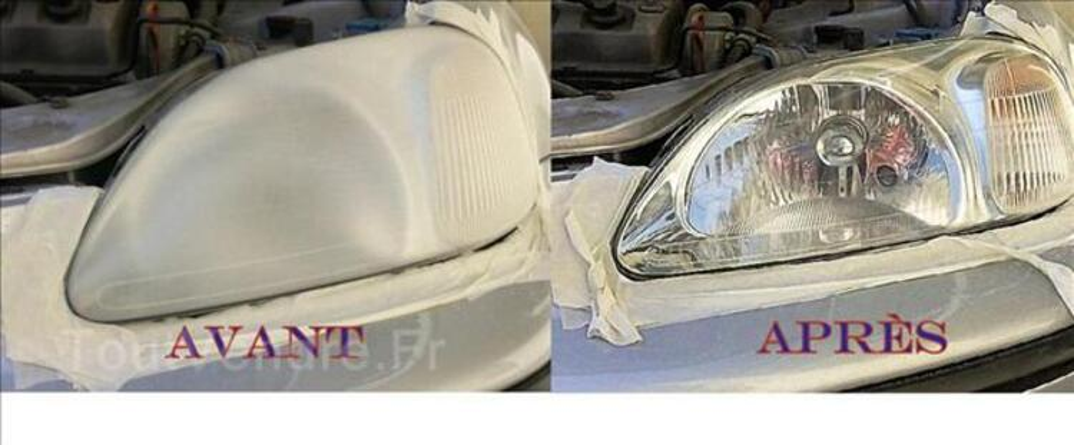 Renovation des optiques de phares automobile 35515176