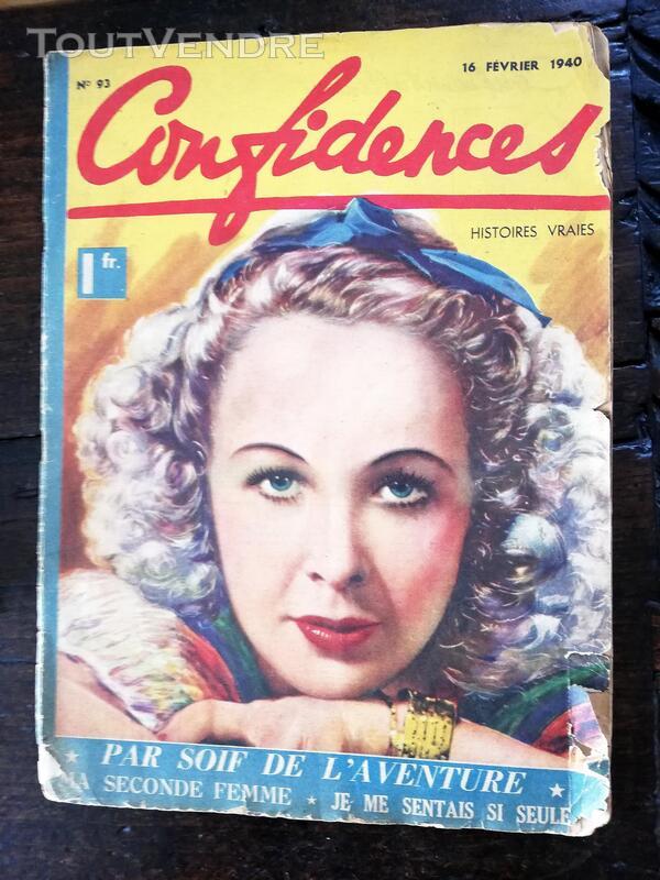Revue Confidences 16 février 1940 660167344