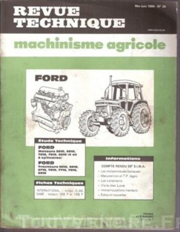 Revue Technique Machinisme Agricole N° 34 Tracteur FORD 49324776