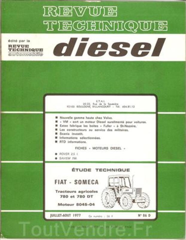 Revue Technique tracteurs Fiat Someca 780 et 780 DT 39193354