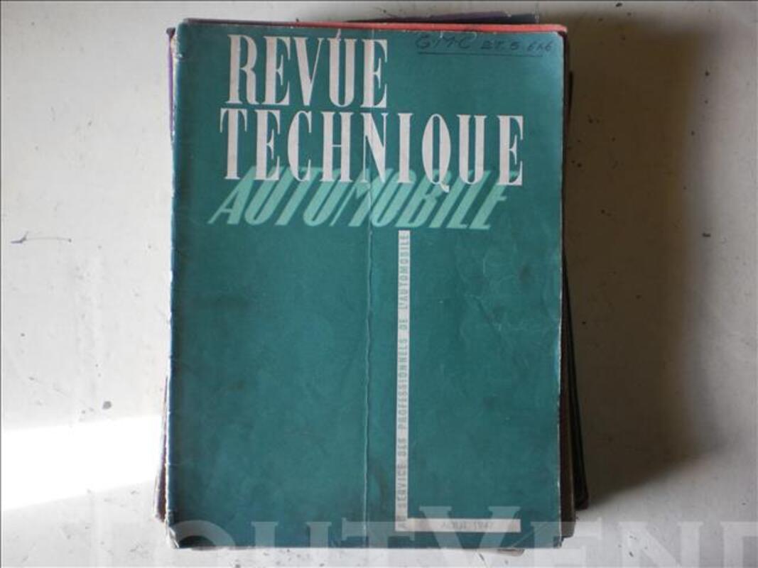 Revues techniques de 1947 à 1951 81334986