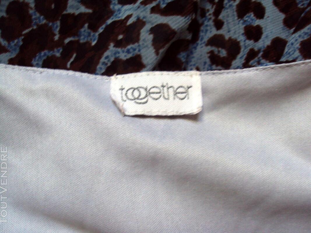 Robe chic bleu asymétrique TOGETHER 40 247805734