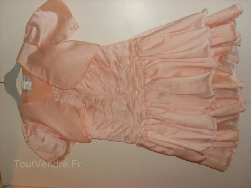 Robe de soirée fille 6 ans rose saumon 91927060